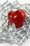 Heart and chains Royalty Free Stock Image