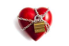 Heart in chains Royalty Free Stock Photo