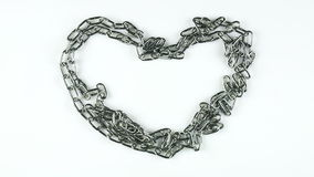 Heart in chains stock footage