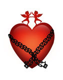 Heart in chains Tattoo  Royalty Free Stock Image