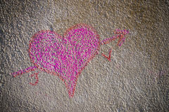 Heart of chalk Royalty Free Stock Photos