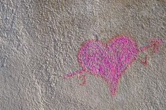 Heart of chalk royalty free stock images