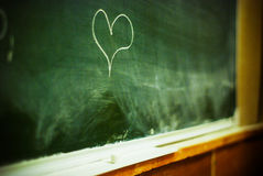 Heart on chalkboard Stock Photography