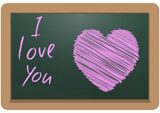 Heart on chalkboard Royalty Free Stock Image
