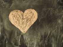 Heart on the chalkboard Royalty Free Stock Photos