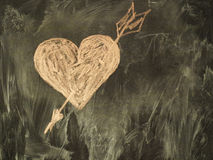 Heart on the chalkboard Stock Image