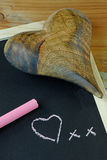Heart and Chalkboard Royalty Free Stock Photo