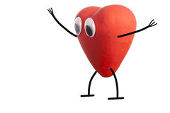 Heart character happy Royalty Free Stock Images