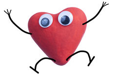 Heart character happy Stock Images