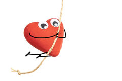 Heart character jumping Royalty Free Stock Images