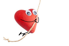 Heart character jumping Stock Image