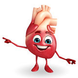 Heart character with pointing pose Royalty Free Stock Photo