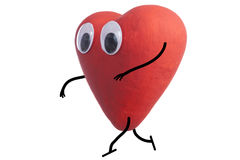 Heart character quietly Royalty Free Stock Photo