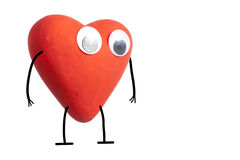 Heart character Royalty Free Stock Photography
