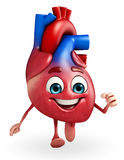 Heart character with running Stock Images