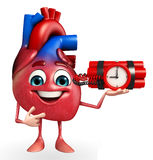 Heart character with time bomb Royalty Free Stock Photos