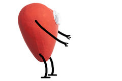 Heart character waiting a hug Royalty Free Stock Photography