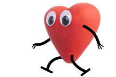 Heart character walking Royalty Free Stock Photo