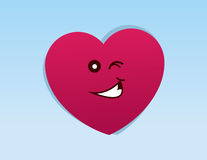 Heart Character Winking Stock Photos