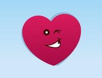 Heart Character Winking Stock Photos