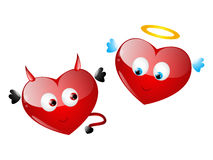 Heart characters Royalty Free Stock Photography
