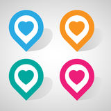 Heart check in icon great for any use. Vector EPS10. stock illustration