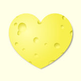 Heart from cheese Stock Photography
