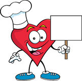 Heart with a Chef's Hat Stock Photos