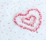 Heart from Cherry blossoms or sakura Royalty Free Stock Photos