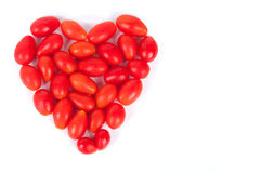 Heart from cherry tomatoes Royalty Free Stock Photo