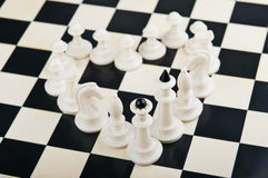 Heart of chess pieces Royalty Free Stock Photo