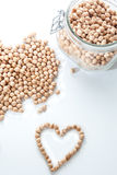 Heart with chickpeas Royalty Free Stock Image