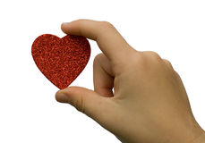 Heart in child hand Royalty Free Stock Photo