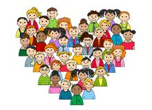 Heart of children and teenagers Royalty Free Stock Photography