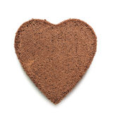 Heart of Chocolat cake. On white background Stock Photos