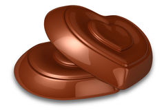 Heart chocolate Stock Image