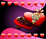 Heart Chocolate Box Stock Images