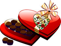 Heart Chocolate Box stock illustration