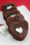 Heart chocolate cakes Stock Image