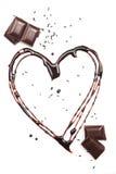 Heart of chocolate Royalty Free Stock Photos