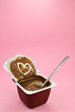 Heart Chocolate Pudding Royalty Free Stock Photos