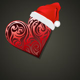 Heart christmas  background Royalty Free Stock Photography