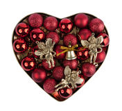 Heart of the christmas ball Stock Photos