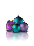 Heart and christmas balls Royalty Free Stock Photos