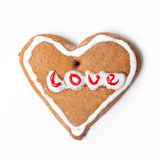 Heart christmas biscuit cookie Stock Images