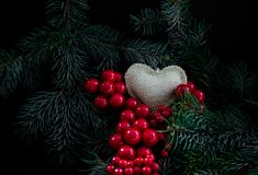 Heart in Christmas Stock Photos
