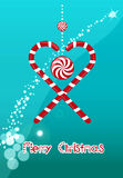 Heart of Christmas candy Royalty Free Stock Photography