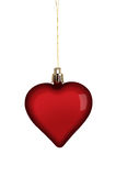 Heart Christmas Decoration on White Royalty Free Stock Images