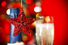 Heart and Christmas decorations Stock Photo