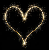 Heart from Christmas sparkler royalty free stock images
